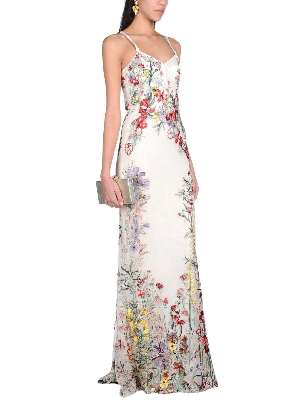 Color embroidered wedding dress  Trend Alert Embroidered Wedding Dresses  Colour Wedding Dresses