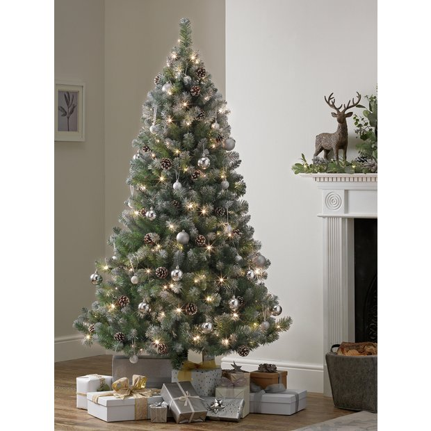 Buy Argos Home 6ft Oscar Pre-lit Christmas Tree - Green at ...