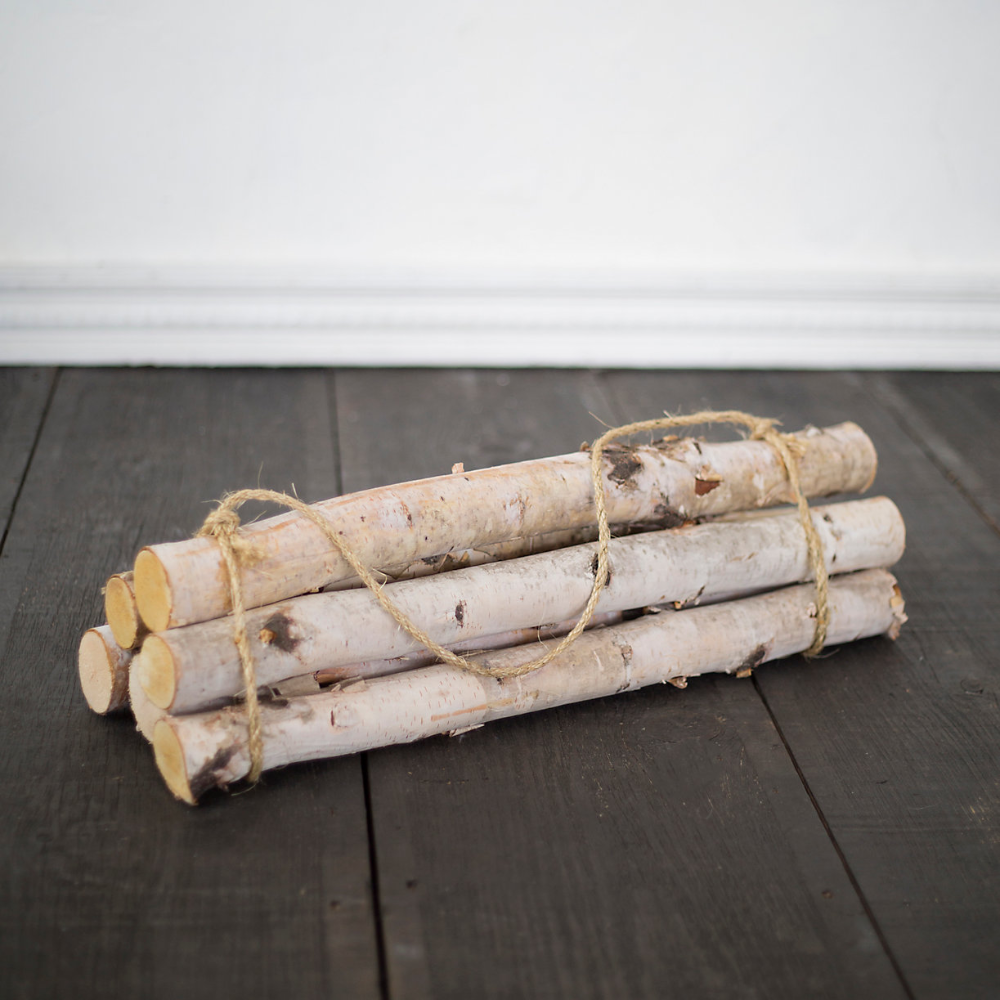 Birch Log Bundle, Large Birch logs, Natural christmas