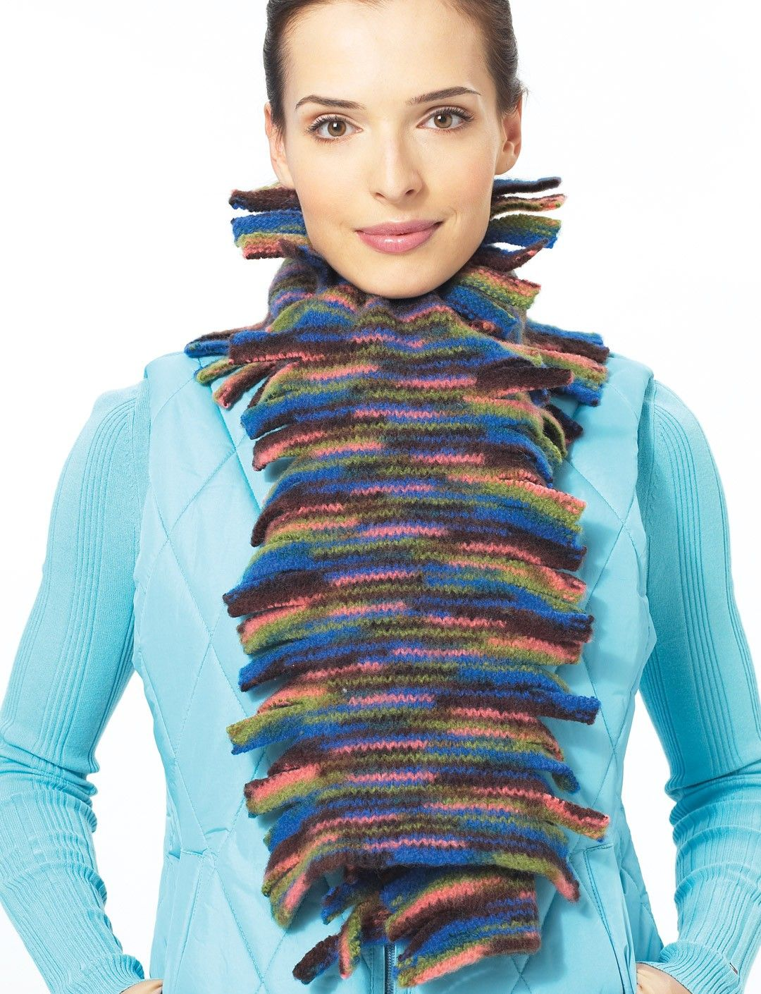 Yarnspirations.com - Patons Felted Fringed Scarf - Patterns ...