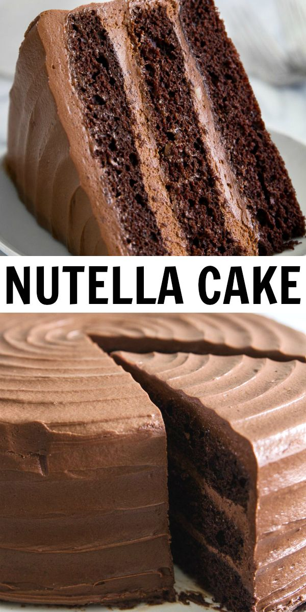 Nutella Cake Recipe - Simply Home Cooked