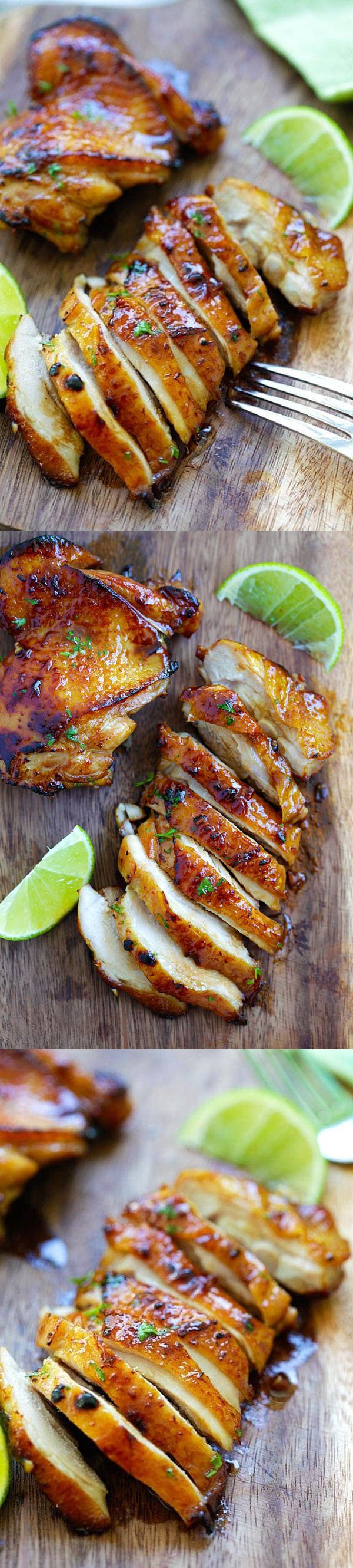 How To Make Honey Lime Chicken | Food Recipes | Chicken is our favorite protein; I make chicken many times a week so I am constantly developing new recipes. This honey lime chicken is inspired by a recipe on Eating Well, but I simplified the recipe to make it easier for you. This honey lime chicken recipe turned out to be a perfect 10. It's a... #Baked, #Chicken, #Healthy, #Honey, #Lime, #Recipes, #Sauce #honeylimechicken