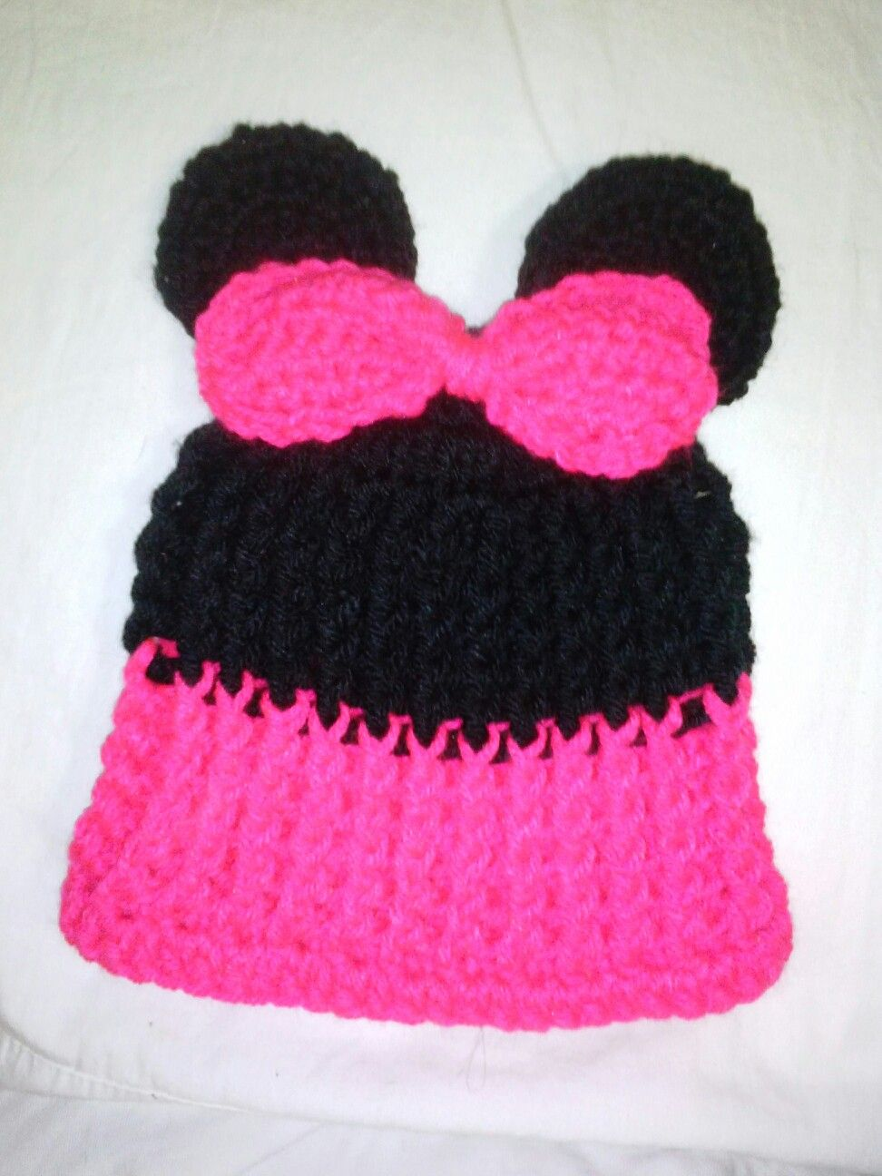 Outstanding Knitted Minnie Mouse Hat Pattern Model - Blanket ...
