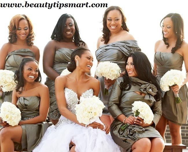What To Wear To An African American Wedding Reception African American Weddings Bridesmaid Metallic Bridesmaid Dresses