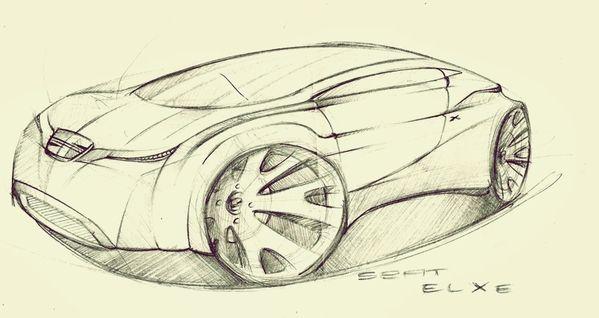 Automotive Sketch by Cláudio Cigarro, via Behance