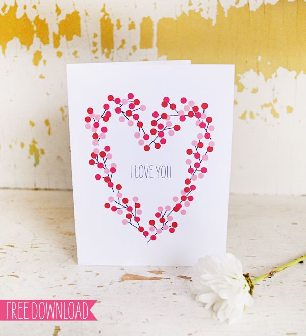 another free valentine day card! | free printables | zum ausdrucken ...