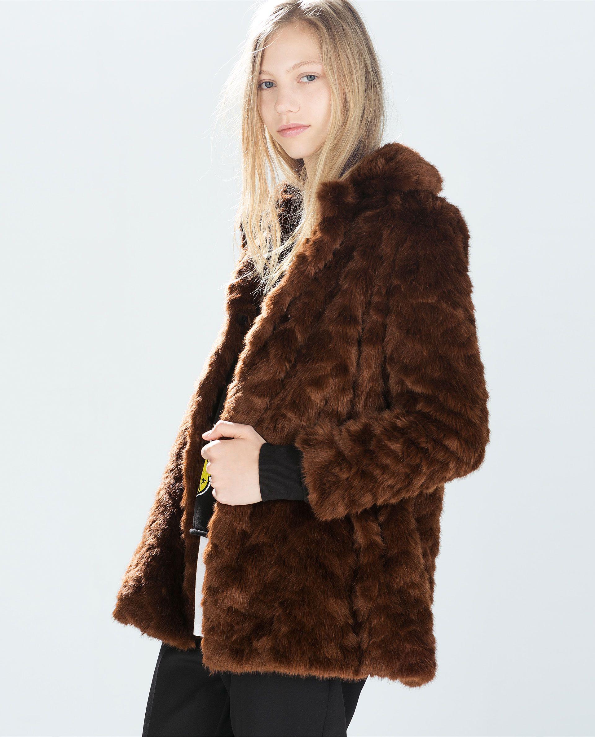 zara - woman - fur coat | mäntel mit pelz, fellmantel, mantel