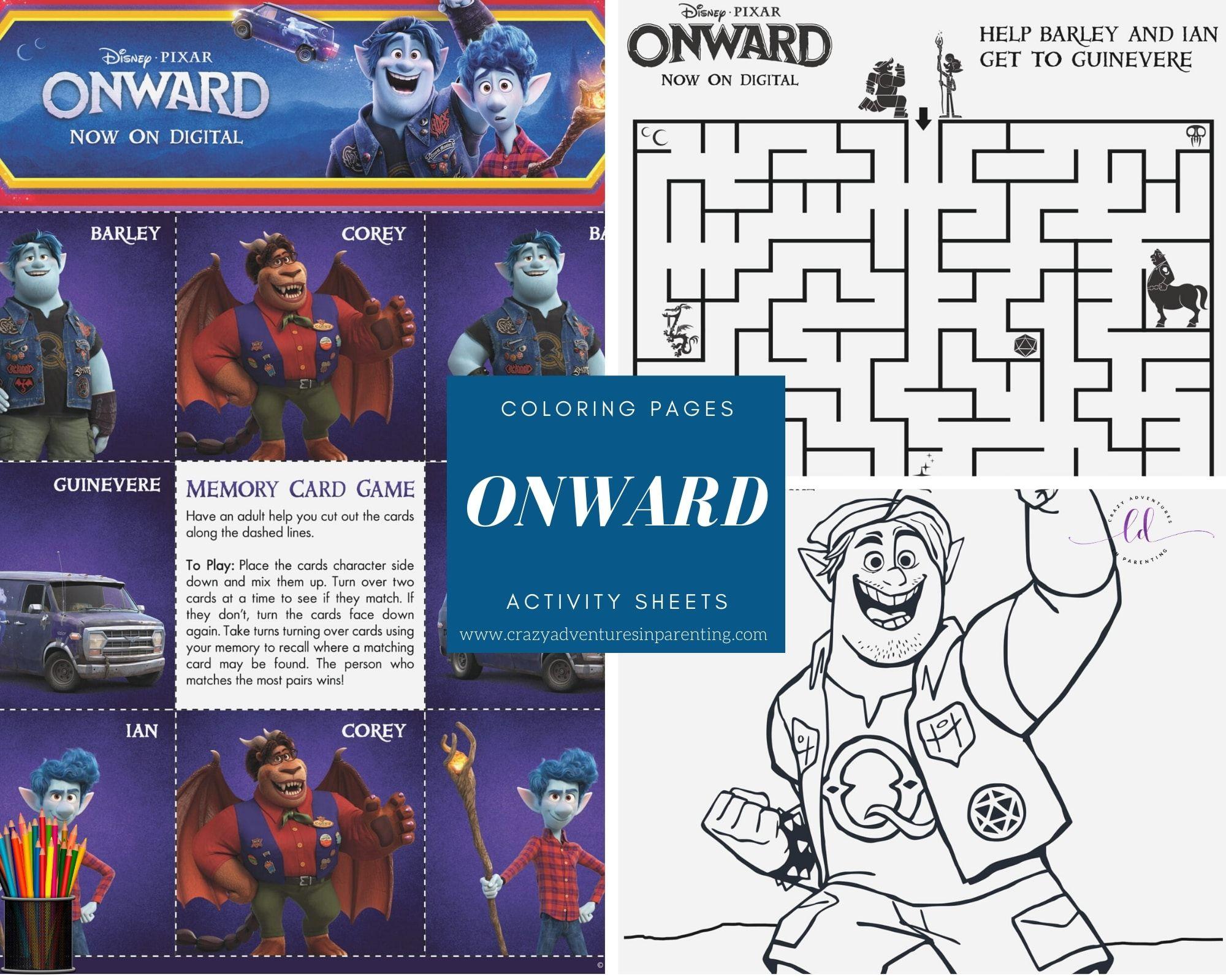Onward Coloring Pages And Activity Sheets Pixaronward