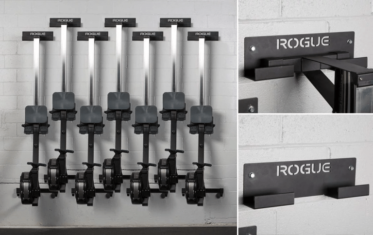 The Rogue Rower Hanger Is An Efficient Wall Mounted Storage Option For Any Concept 2 Model D Indoor Rowing Machine Whether Garage Gym Gym Owner Hanger Design
