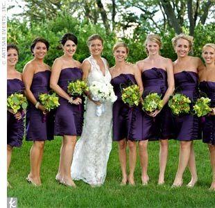 Dark lavender bridesmaid dresses
