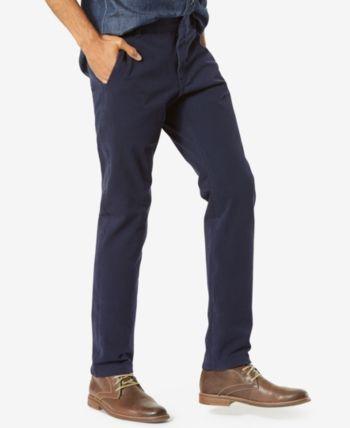 fbf97133b0e3 Dockers Men's Alpha Slim Tapered Fit Smart 360 Flex Khaki Stretch Pants -  Blue 32x32