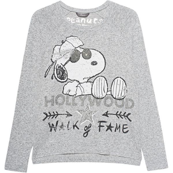 Princess Goes Hollywood Snoopy Hollywood Grey Sweat Shirt With Print Raglan Sleeve Sweatshirt Sweatshirts Printed Sweatshirts
