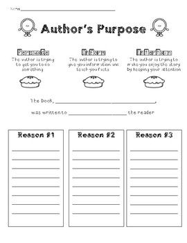 Author's Purpose (providing evidence) | Authors purpose ...
