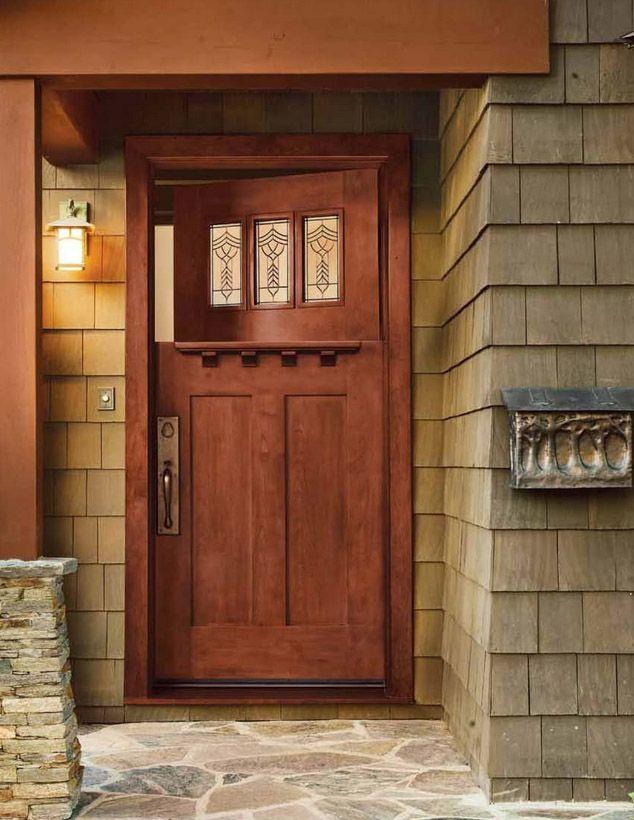 Entry Doors By Jeld Wen 383 Cherry Craftsman Dutch Door Cherry