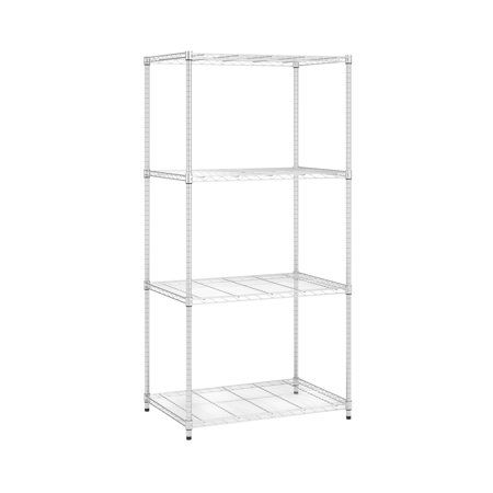 Ofm Adjustable Wire Shelving Unit 36 X 72 24 Inch Depth In Chrome S367224 Chrm Size 24 Inch X 36 Inch Wire Shelving Units Wire Shelving Computer Desks For Home