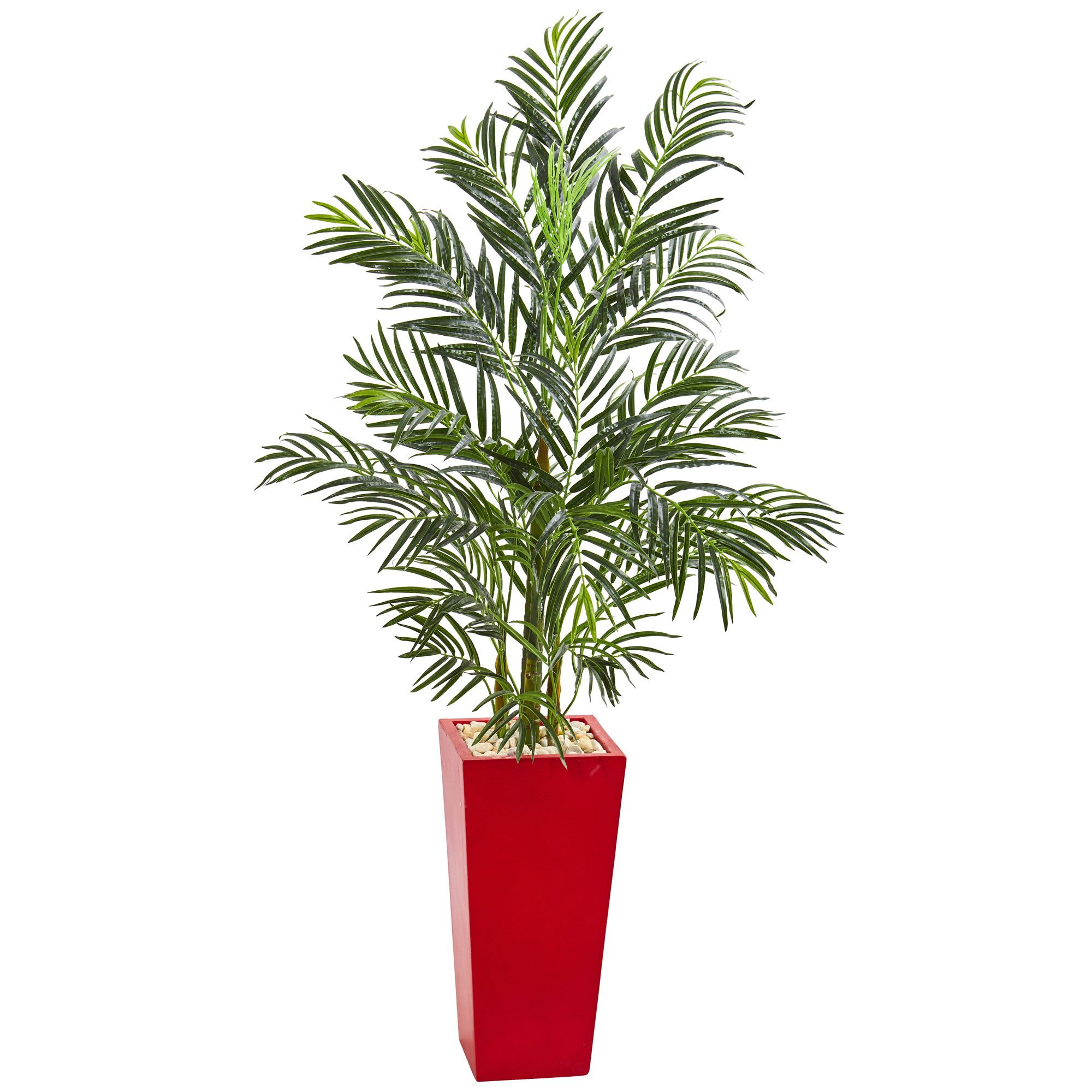 With Lush Green Foliage Realistically Fanning Out Of Three Shoots,