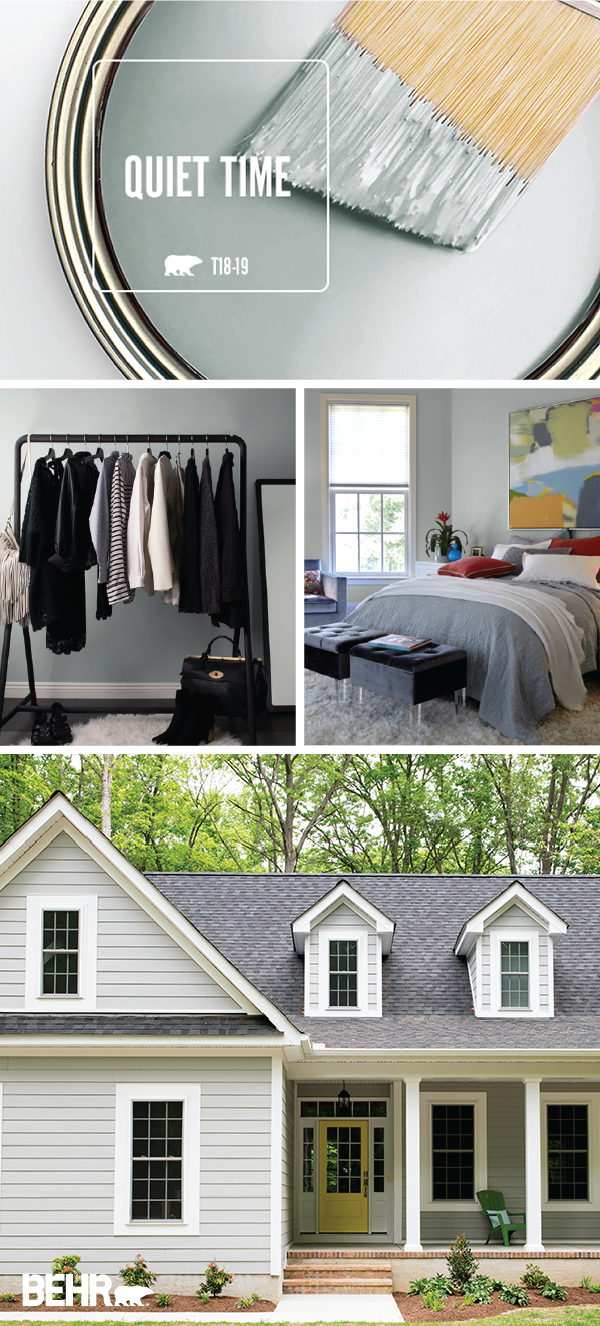 Color of the month quiet time blue rooms behr paint - Can you use interior paint outdoors ...