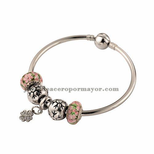 aa8dcb1a715d pulsera de moda con charms de acero inoxidable para mujer ...