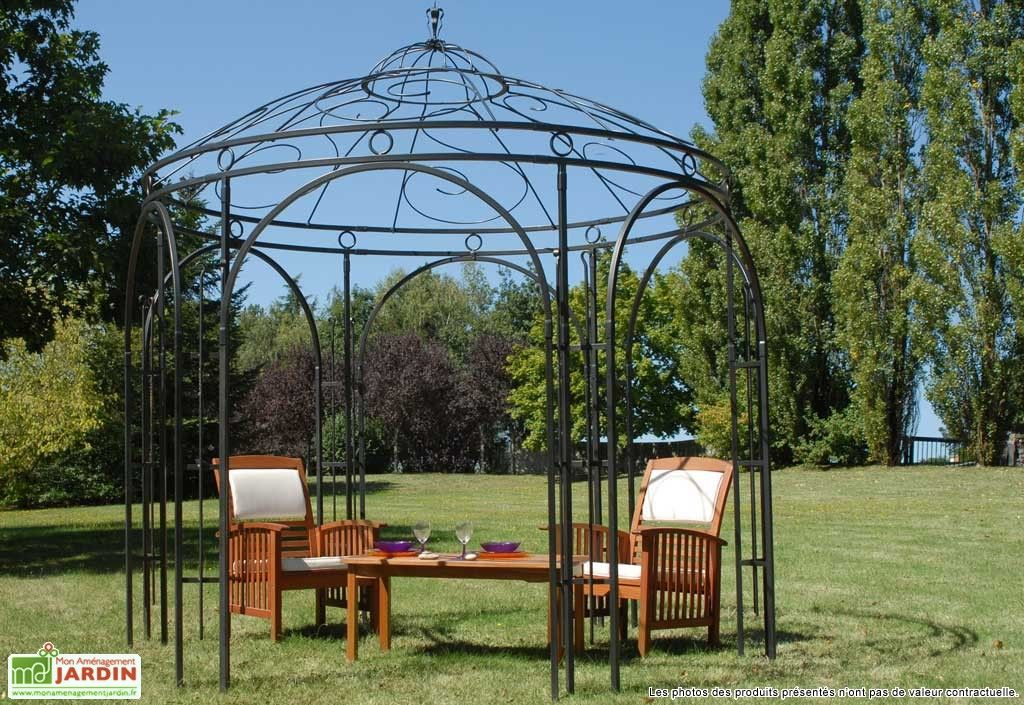 tonnelle fer forg melody tuin pergolas and toile. Black Bedroom Furniture Sets. Home Design Ideas