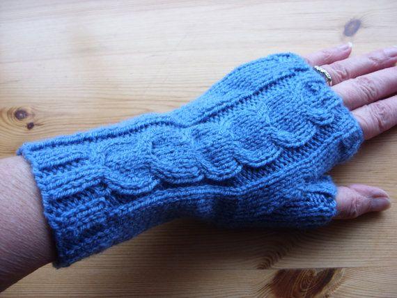 Petrol Blue Handknit Ladies Fingerless Gloves-Knit by elisabeth76 (Accessories, Gloves & Mittens, Arm Warmers, fingerless gloves, petrol blue, wrist warmers, hand warmers, arm warmers, petrol blue gloves, handknit gloves, ready to ship, womens arm warmers, knit womens gloves, handknit fingerless, ladies gloves, blue gloves)
