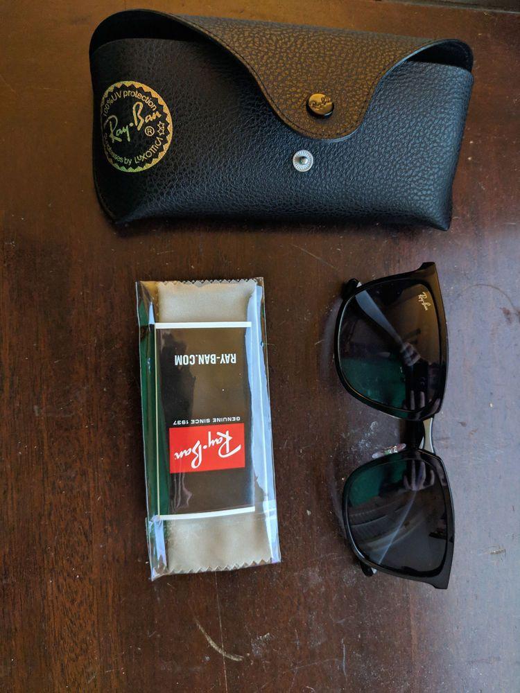 edd89fe1656 AUTHENTIC RAY BAN SUNGLASSES RB4303 601 8G Matte Black Grey Lens  fashion