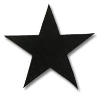 8 - Star #1 Sew Iron On Quilt Die Cut Applique