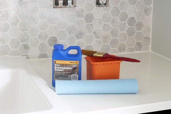 How to Install a Marble Hexagon Tile Backsplash Marbles and Kitchens