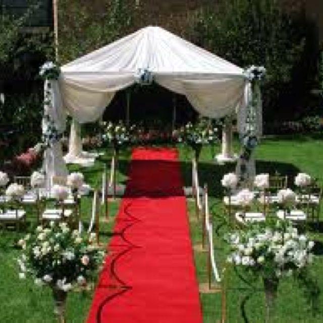 Low Budget Wedding Reception Ideas: Outdoor Wedding !!! Simple DIY