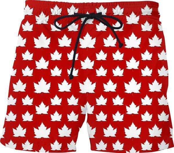 206dac913f Canada Swim Trunks Fun Red Canada Souvenir Shorts & Shirts Canadian Maple  Leaf Souvenir Swim Shorts Canada Flag Souvenir Swim Trunks by Kim Hunter