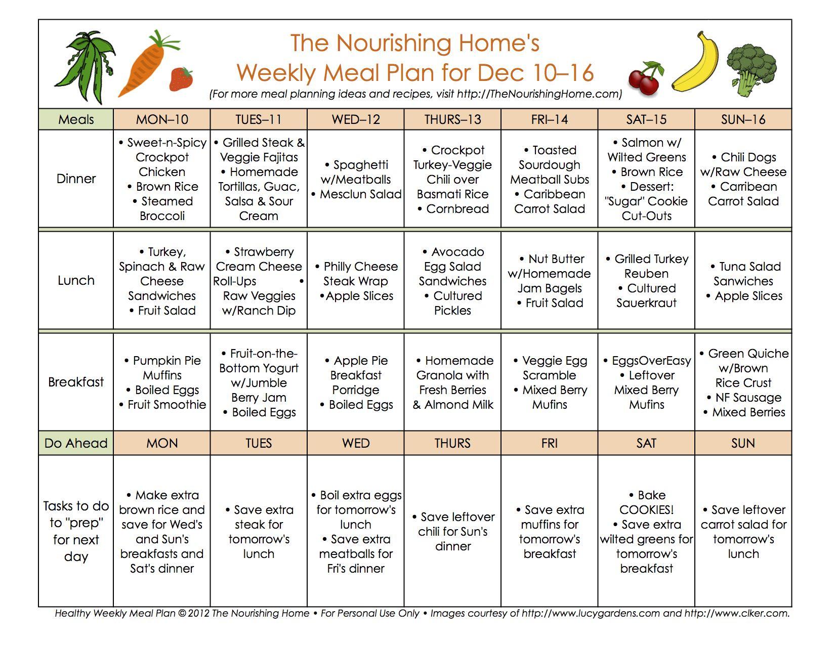Bi Weekly Meal Plan For December 10 23 The Better Mom Whole Foods Meal Plan Healthy Menu Plan Week Meal Plan