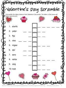 photo about Valentines Puzzles Printable titled Valentines Working day Totally free: Valentines Working day Literacy Puzzles SLP