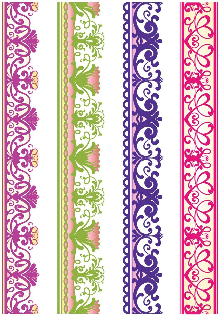 borders for scrapbooking | Lace Borders Two 4pc JustRite Stampers ...