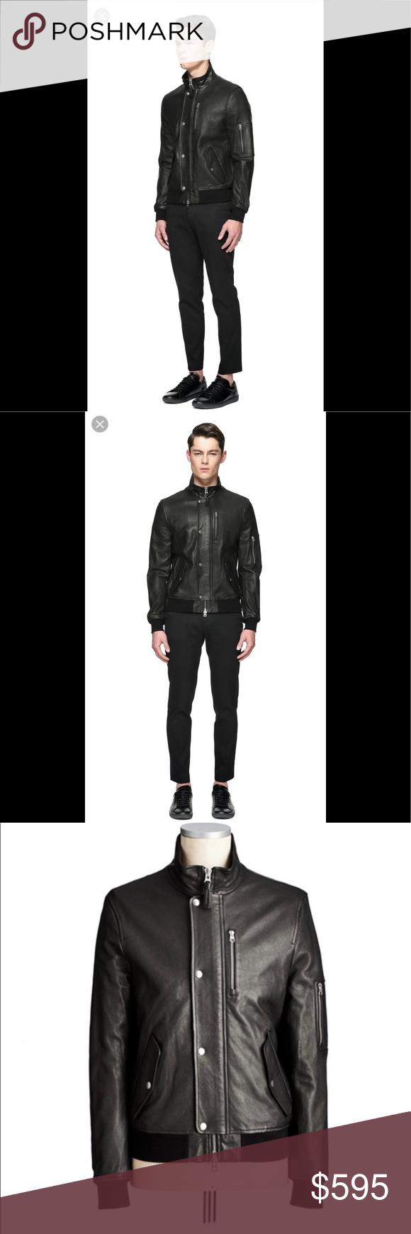 Mackage Joaquin Black Leather Jacket Size 44 Leather Jacket Black Leather Jacket Black Leather