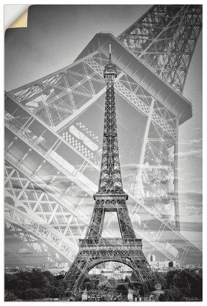 Wandfolie »M. Viola: Der doppelte Eiffelturm II, Monochrom« #filmposterdesign