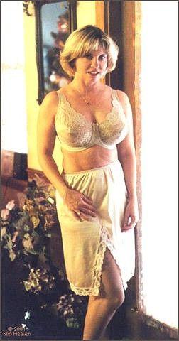 Mature women wearing slips