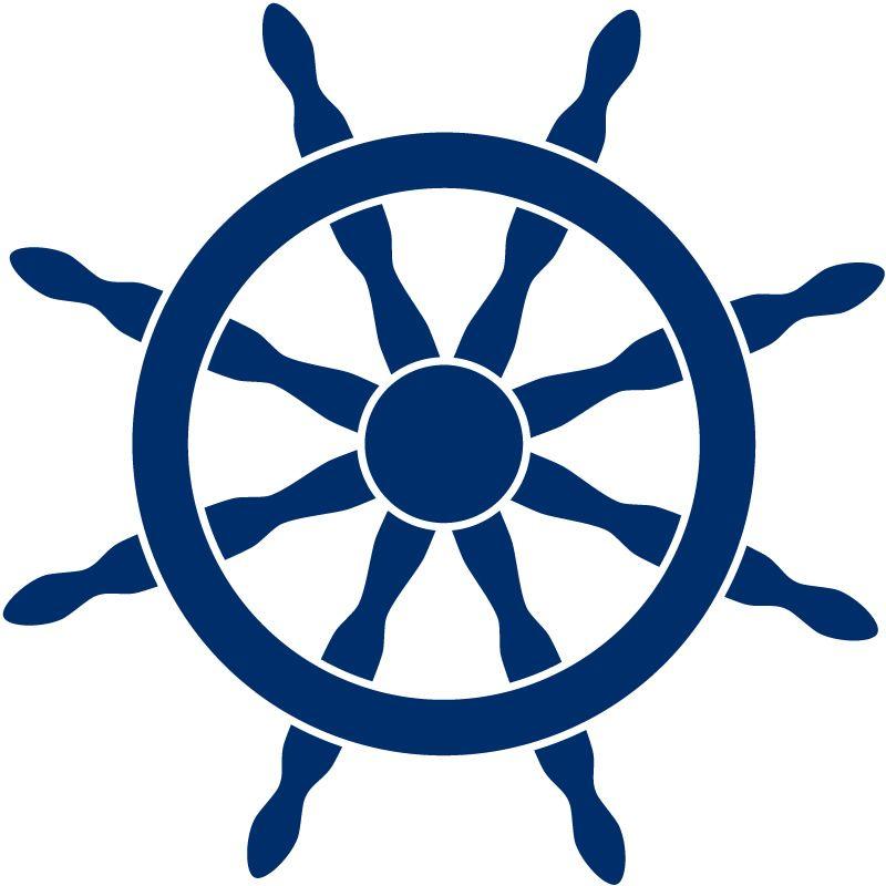 Ship Steering Wheel Helm Sea Wall Stickers Wall Art Decal