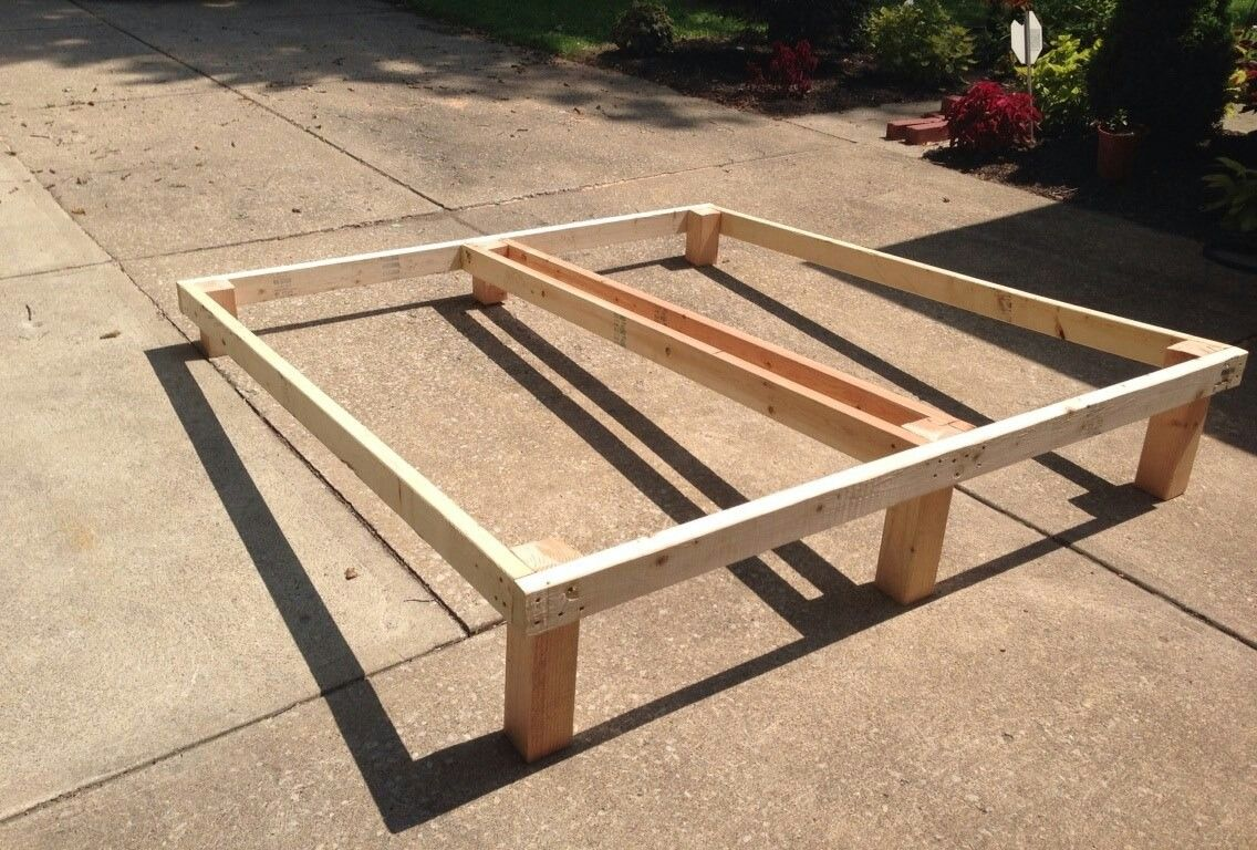 Cool Solution For Inclined Bed Frame That Fits In An Existing