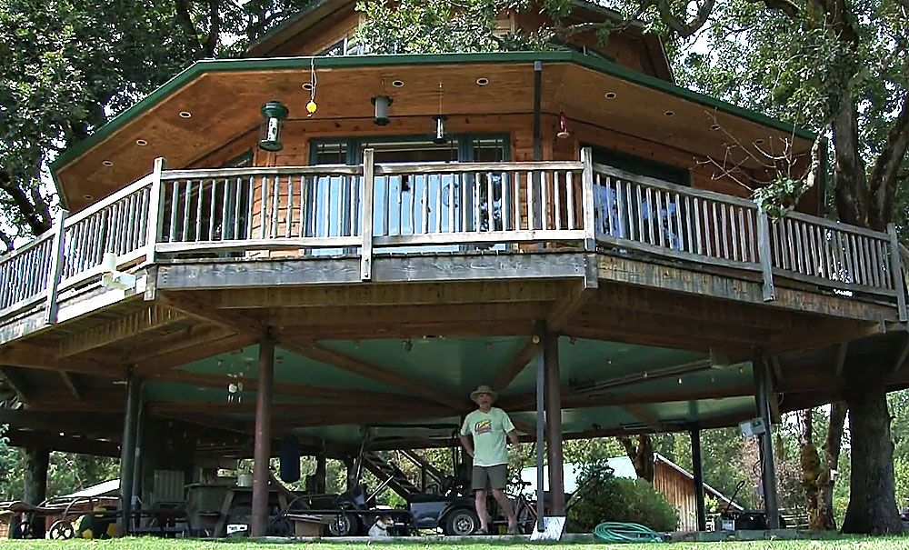 largest treehouse in the world by michael garnier - Biggest Treehouse In The World