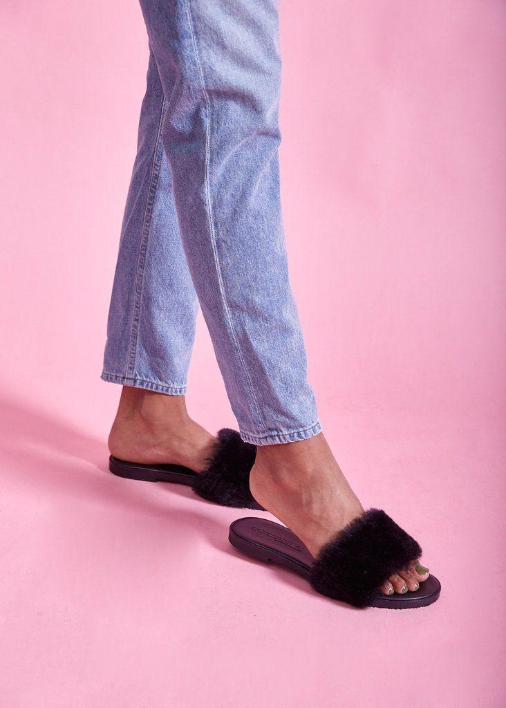 Amby Fur Slides