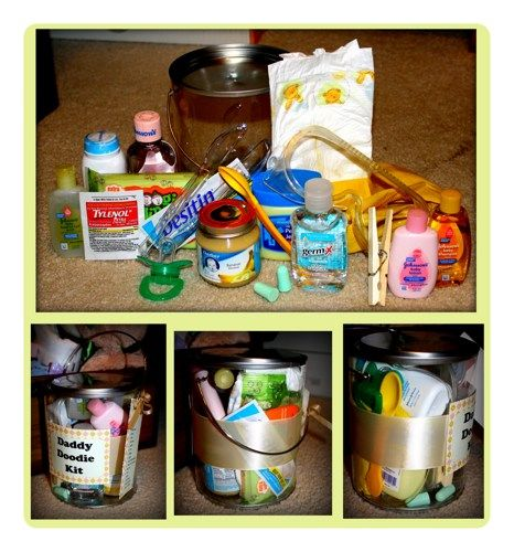 Great Baby Shower Gag Gift For Dad To Be- Daddy Doodie Kit