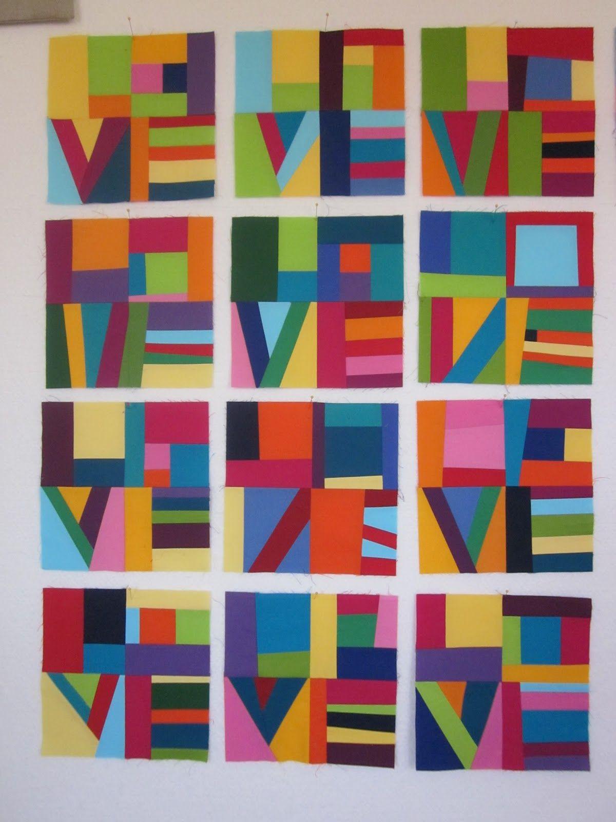 Zany Quilter Love Blocks New Quilt Ideas Art