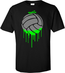 Volleyball Paint Black Volleyball Graphic T Shirts Gimmedat Black Neon Graphic Design Logo Volleyball