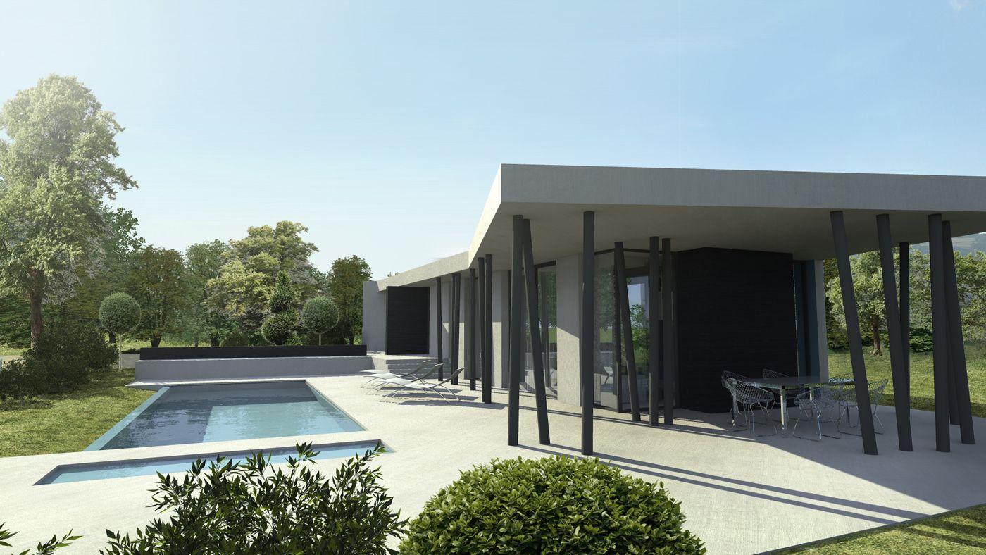 maison y a2 sb villas et int rieurs lyon contemporain pinterest maison particuli re. Black Bedroom Furniture Sets. Home Design Ideas