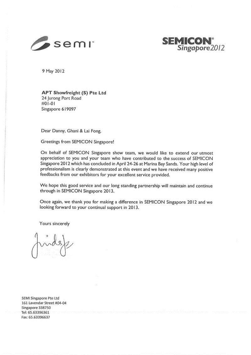airshow appreciation letter cloud expo asia best photos team – Sample Appreciation Letter
