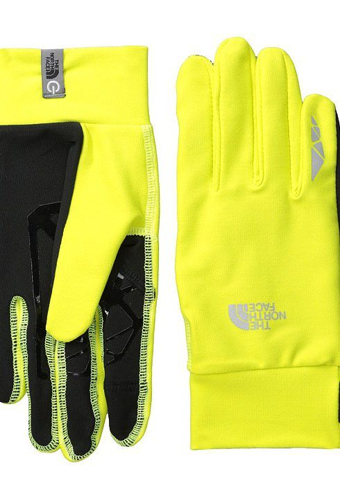 the north face runners 1 etip glove sulphur spring green extreme