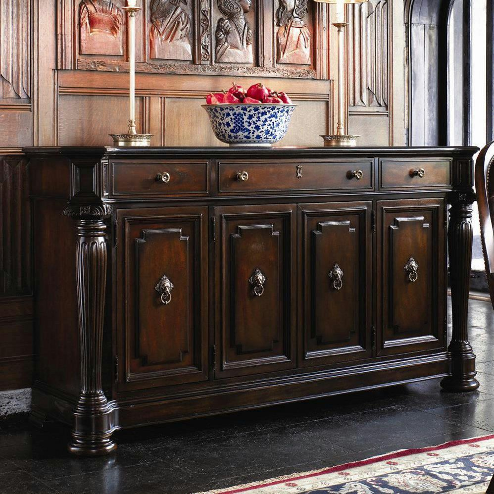 Thomasville Furniture Brompton Hall Credenza Buffet Granite Top 45321 241 Thomasville Thomasville Furniture Dinning Room Decor Furniture