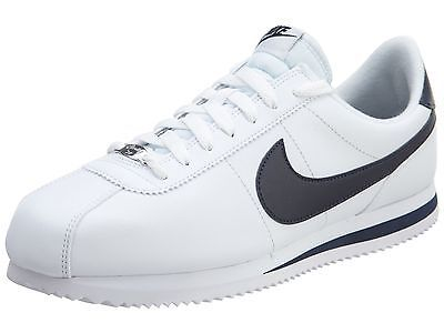 premium selection 3d781 f2624 ... Nike Cortez Basic Leather Mens 819719-141 White Obsidian Running Shoes  Size 11.5