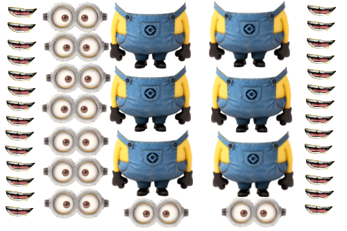 Zany image inside minion template printable