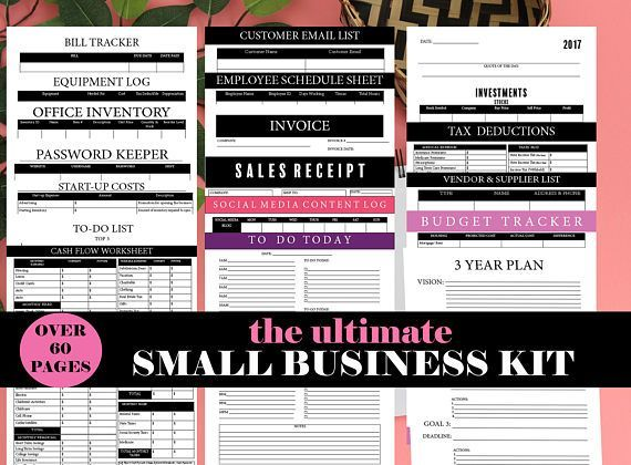 Small Business Kit- Home Business Planner, Easy Business Planner - budget cash flow spreadsheet
