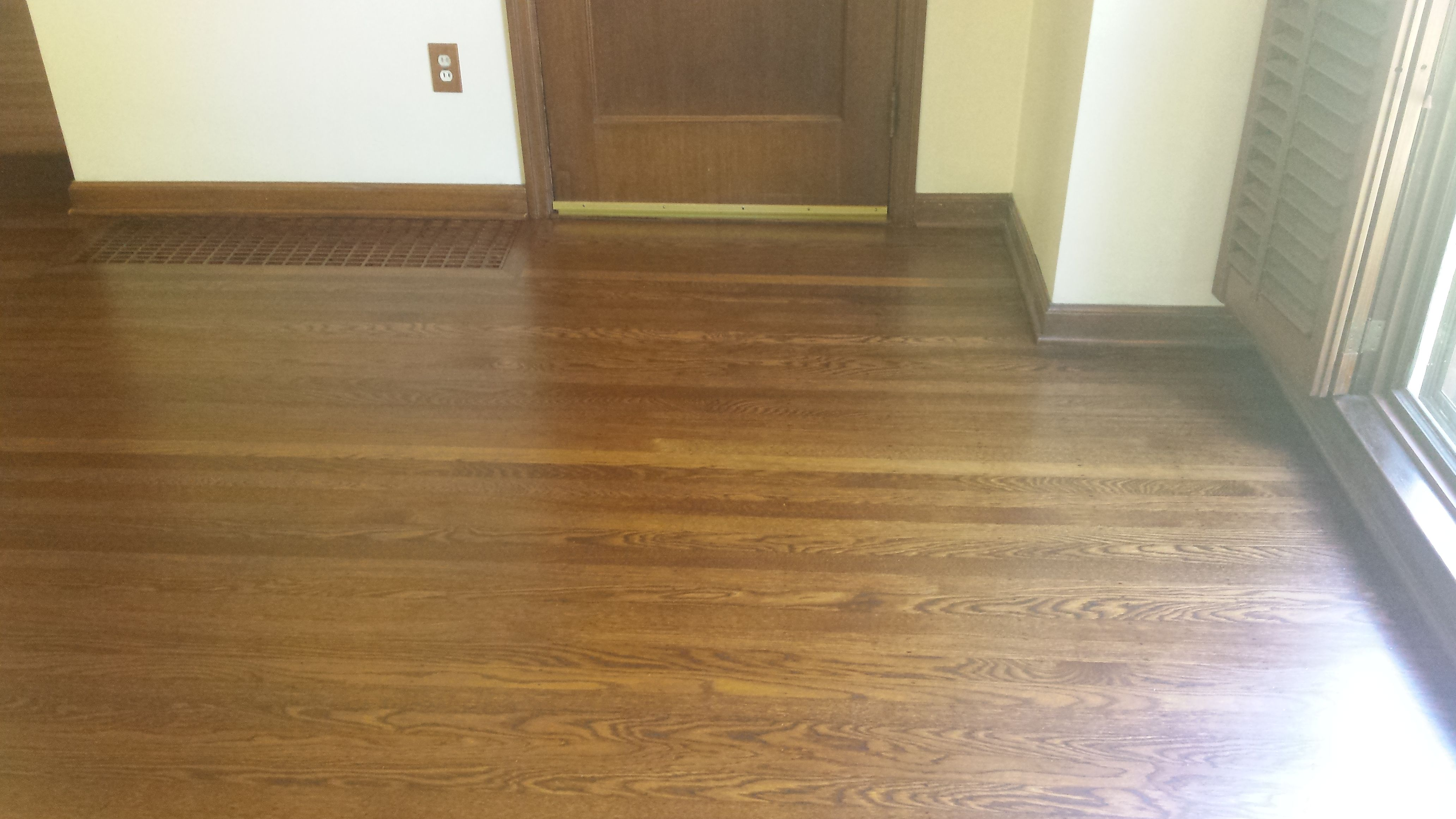 Red Oak Wood Floor Refinished With